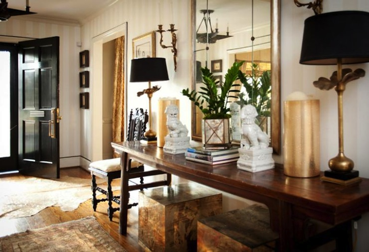 Chinoiserie Chic Cowhide And Chinoiserie
