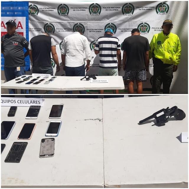 En Riohacha cayó banda dedicada a robar celulares