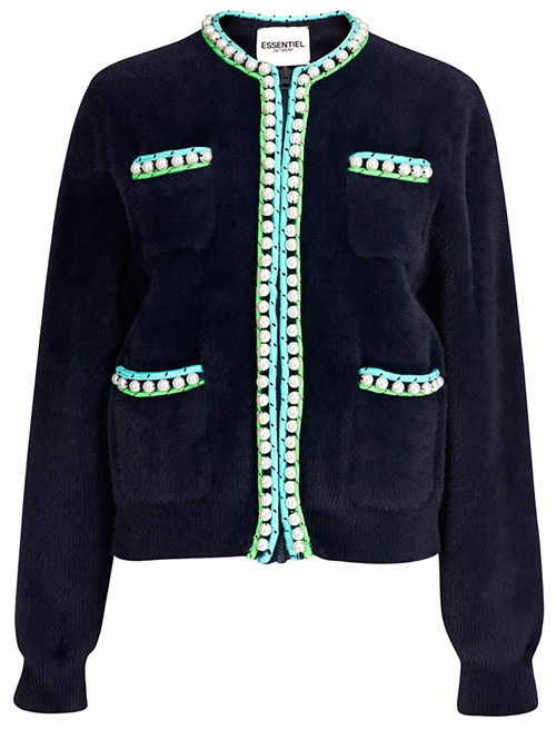essential antwerp faux fur cardigan