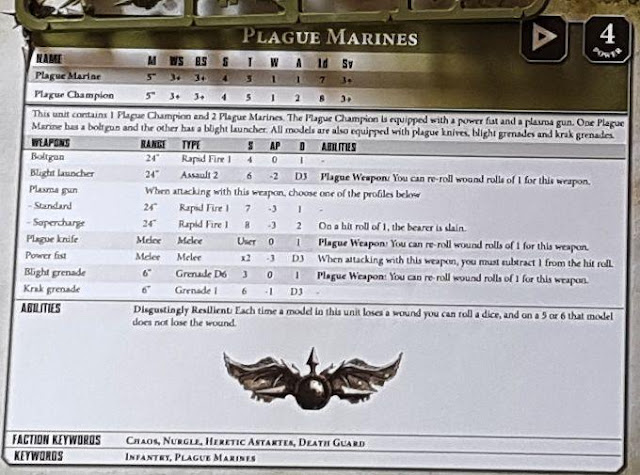 death guard plague marine datasheet first strike warhammer 40k