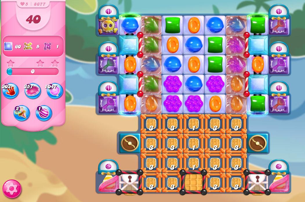 Candy Crush Saga level 8677
