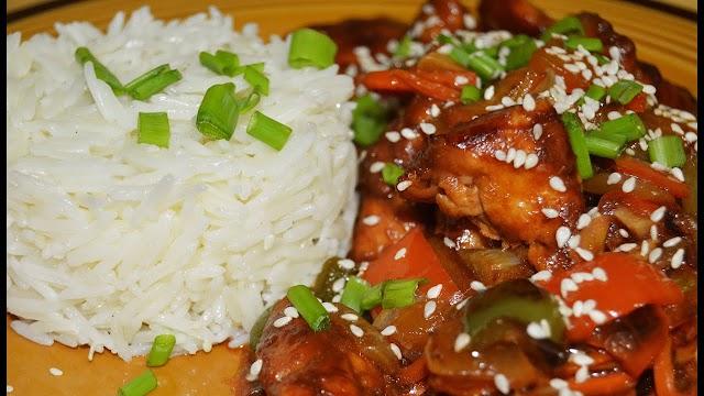 الطبق الصيني بالدجاج  طريقة التحضير بالخطوات