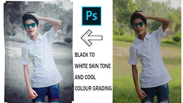 Turn Dark Black Skin To White Skin In Photoshop Easily Cool Colour Effect White Glowing Skin Editing