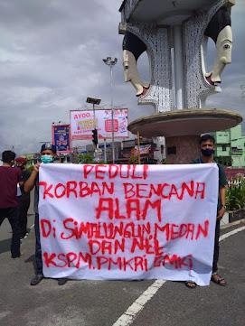 Banjir Landa Simalungun, GMKI, PMKRI, KSPM Turun Kejalan Galang Bantuan