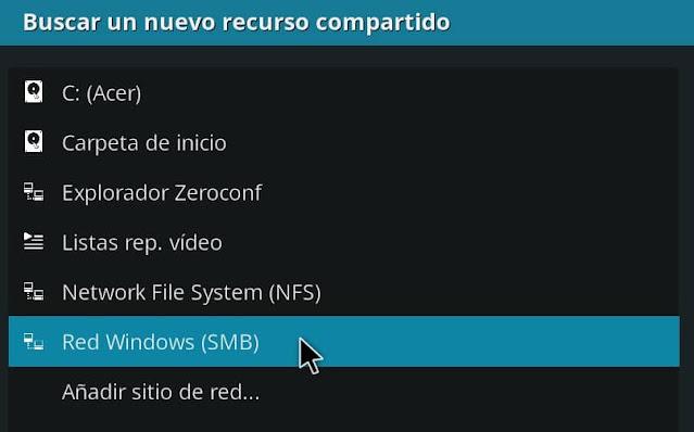 configurar servidor ip kodi