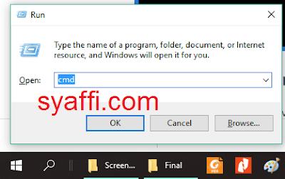 10. Buka CMD pada Windows 10