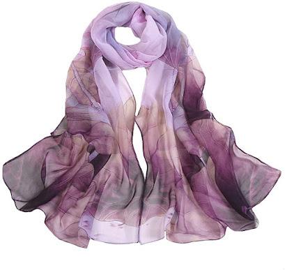 Good Quality Soft Silk Chiffon Scarves Shawls