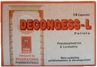 سعر ودواعى إستعمال دواء كبسولات ديكونجس ال Deconges L لعلاج نزلات البرد