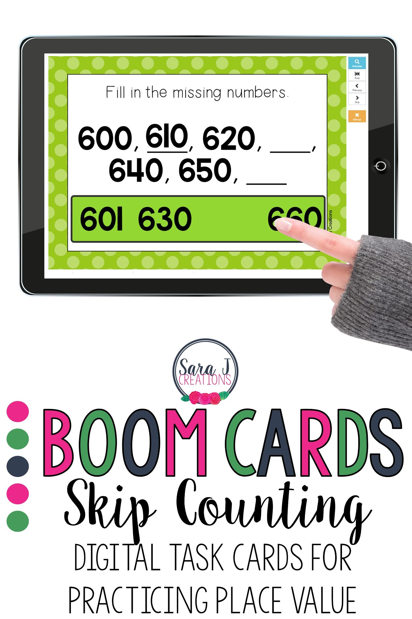 Practice skip counting with these Boom Cards - a fun, digital task card system that provides students with instant fun and instant feedback. Ideal for distance learning or in the classroom during math centers.