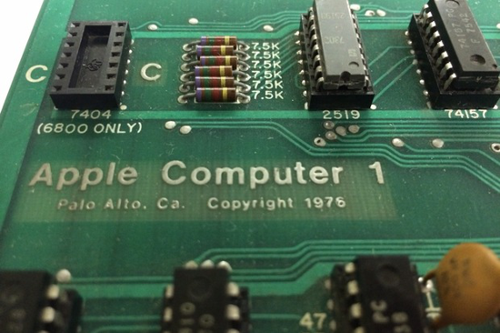 Apple-1 detail