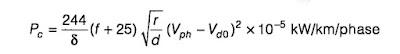Corona-Power-Loss-formula