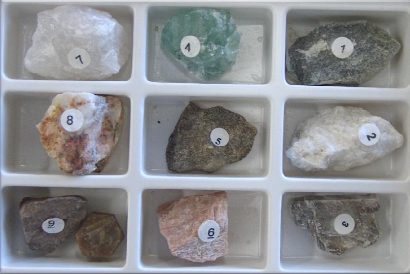 Dureza dos Minerais Segundo as Escala Mohs