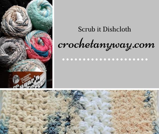 crochet dishcloth with scrub off yarn