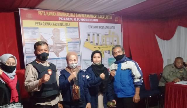 Penyiar RKSB Maja FM Ikut Operasi Yustisi Polsek Ujungberung Bandung