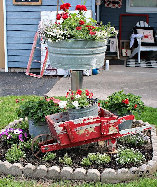 Planting a Small Junk Garden #annuals #verticalinterest #gardenjunk #junkgarden