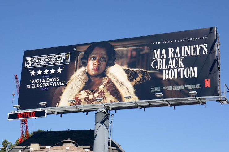 Ma Raineys Black Bottom SAG Award billboard