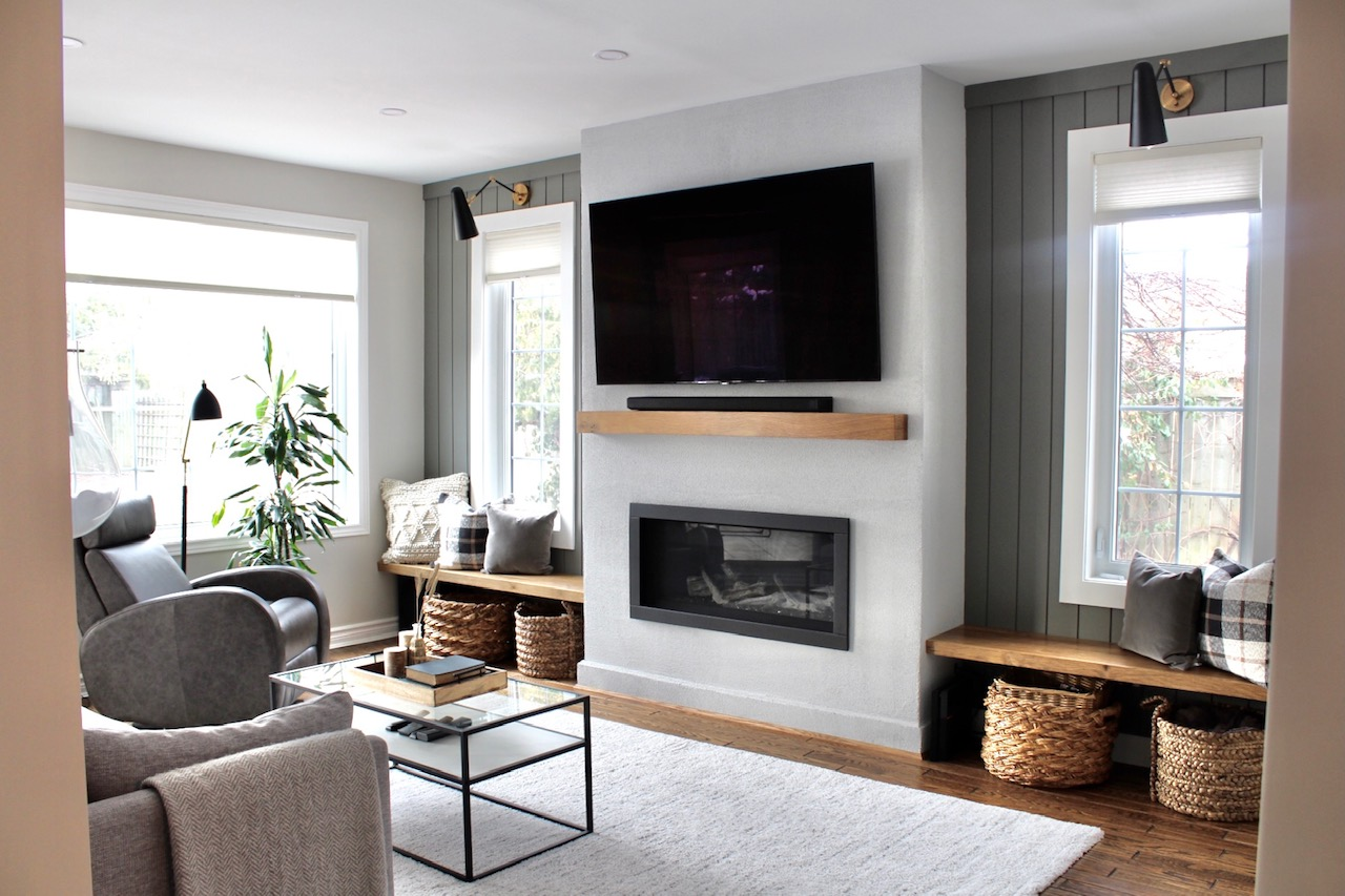 carriage hill project reveal - living room after