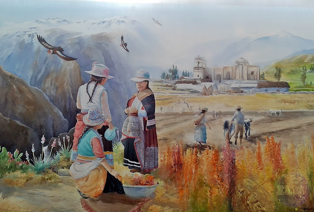 Pintura al óleo   Paisaje del Cañón del Colca