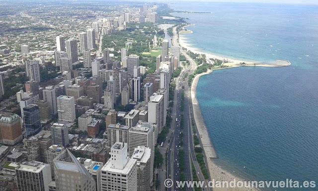 Vista desde John Hancock Center conocido como Chicago en 360º. Chicago