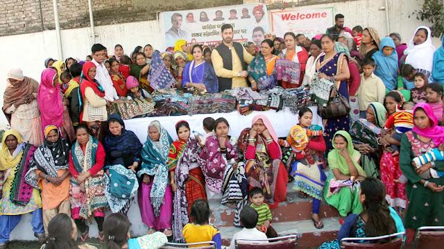 Congress Spokesperson Vikas Chaudhary honored women in Faridabad