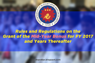 DBM: Guidelines on the Grant of the Mid-Year Bonus