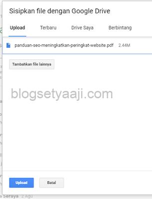 Mengupload tugas di google classroom