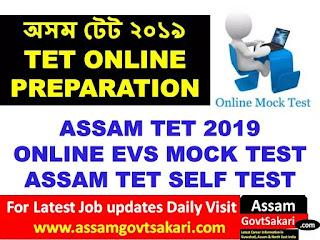 Assam TET Online EVS Mock Test 8