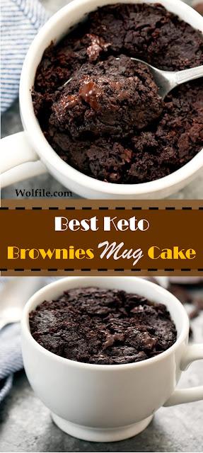 Best Keto Brownie Mug Cake #dessert #cake #keto