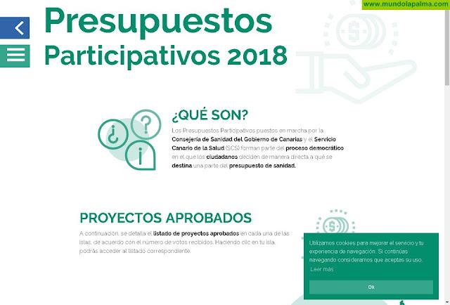 Sanidad publica los proyectos más votados en los Presupuestos Participativos del SCS