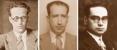 Los ajedrecistas Plàcid Soler, Rafael Domènech y Josep Vilardebó