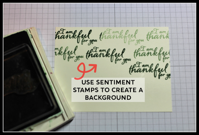 Use Stampin' Up! sentiment stamps to create a background by Nicole Steele The Joyful Stamper