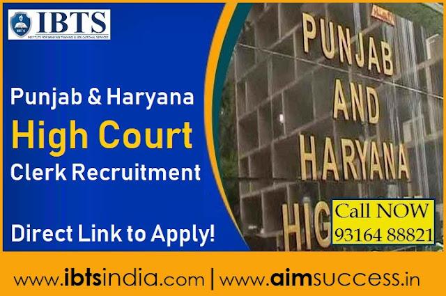 Punjab & Haryana High Court Clerk Recruitment 2018