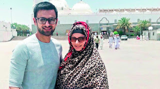 Shoaib And Sania Travelled From The UAE For The Umrah Jpeg