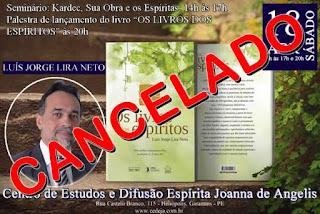 Seminário cancelado