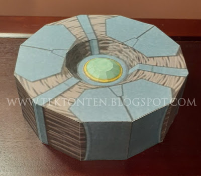 Un-Activated Guyver Unit Papercraft