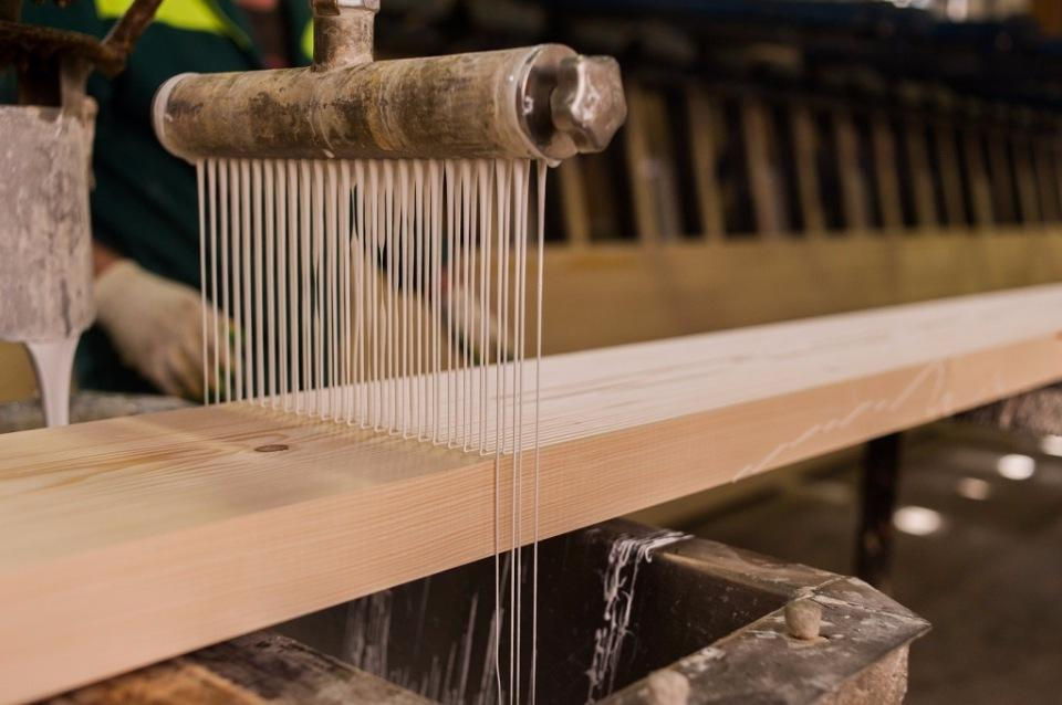 Glued laminated timber manufacturing
