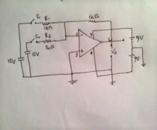 Laporan Praktikum Elektronika Dasar 2 - Penguat Penjumlah Inverting