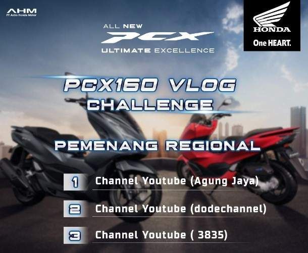3 besar PCX160 Vlog Challange Bali