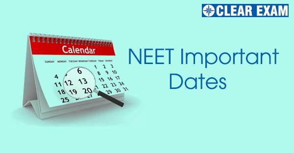 NEET Important Dates 2020