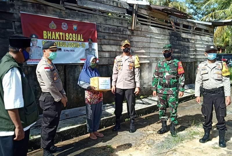 Gerakan Bhakti Sosial Polri Peduli Covid-19 Digelar di Polres Bintan