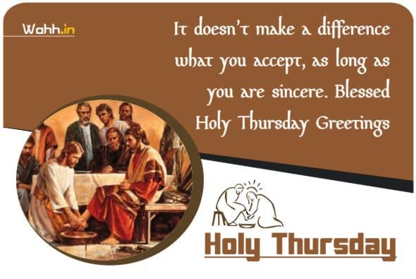 Holy Thursday Wishes Greetings