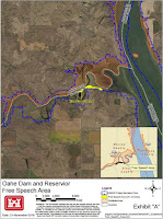 Oahe Dam and Reservoir Free Speech Area (Credit: U.S. Army Corps of Engineers) Click to Enlarge.