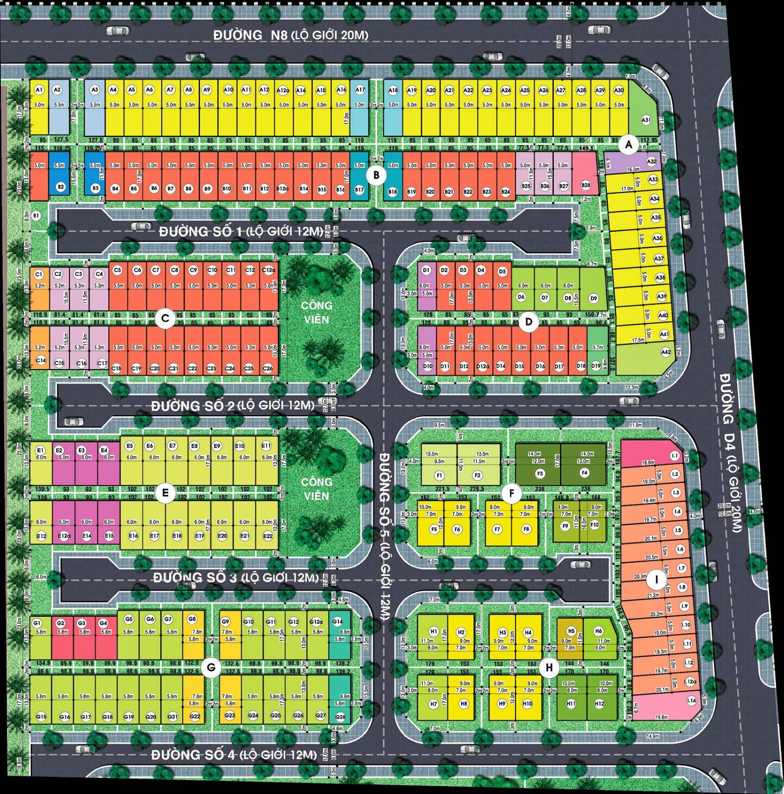 Bản đồ phân lô đất nền Jamona City