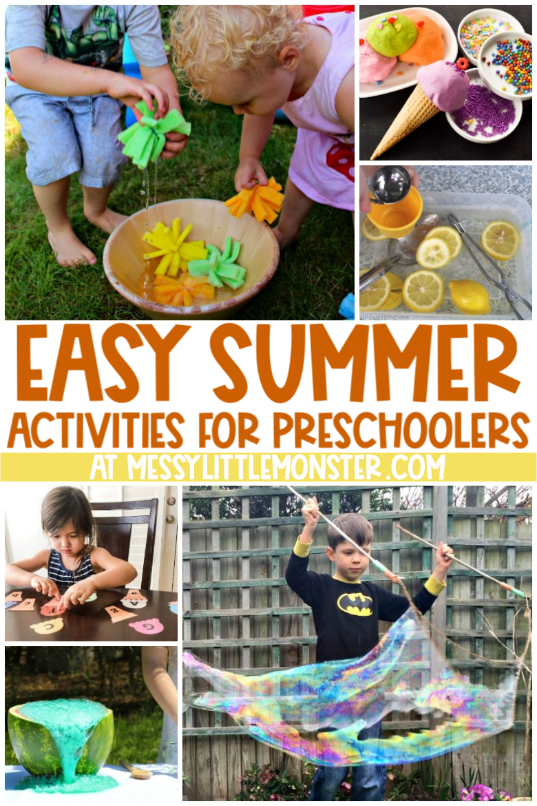 Easy summer activities for preschoolers