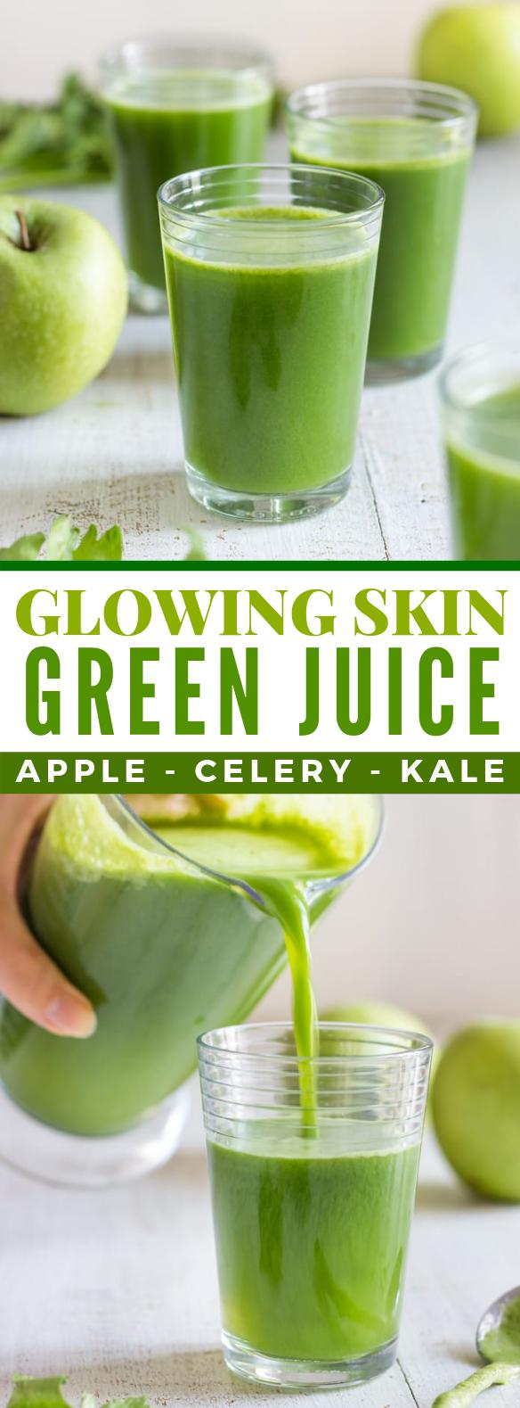 GLOWING SKIN GREEN JUICE #drinks #juicer