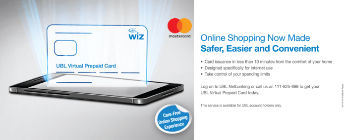 UBL launched UBL WIZ Virtual Prepaid Card in Pakistan