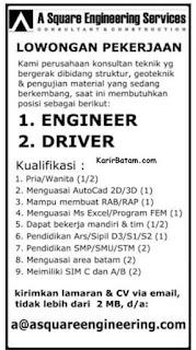 Lowongan Kerja PT. A Square Engineering Indonesia