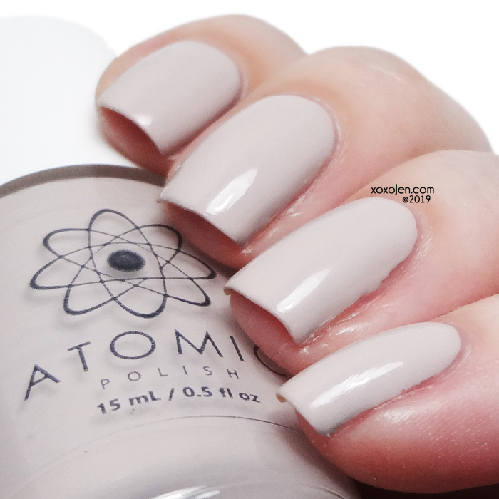 xoxoJen's swatch of Atomic Polish Al (Aluminum)