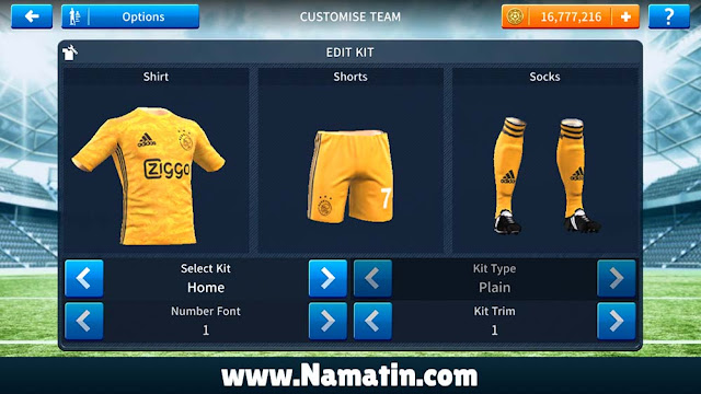 Kostum Dream League Soccer Ajax Terbaru