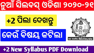 CHSE syllabus,chse syllabus 2020-21,+2 new syllabus download, CHSE odisha new syllabus 2020-21 PDF Download,